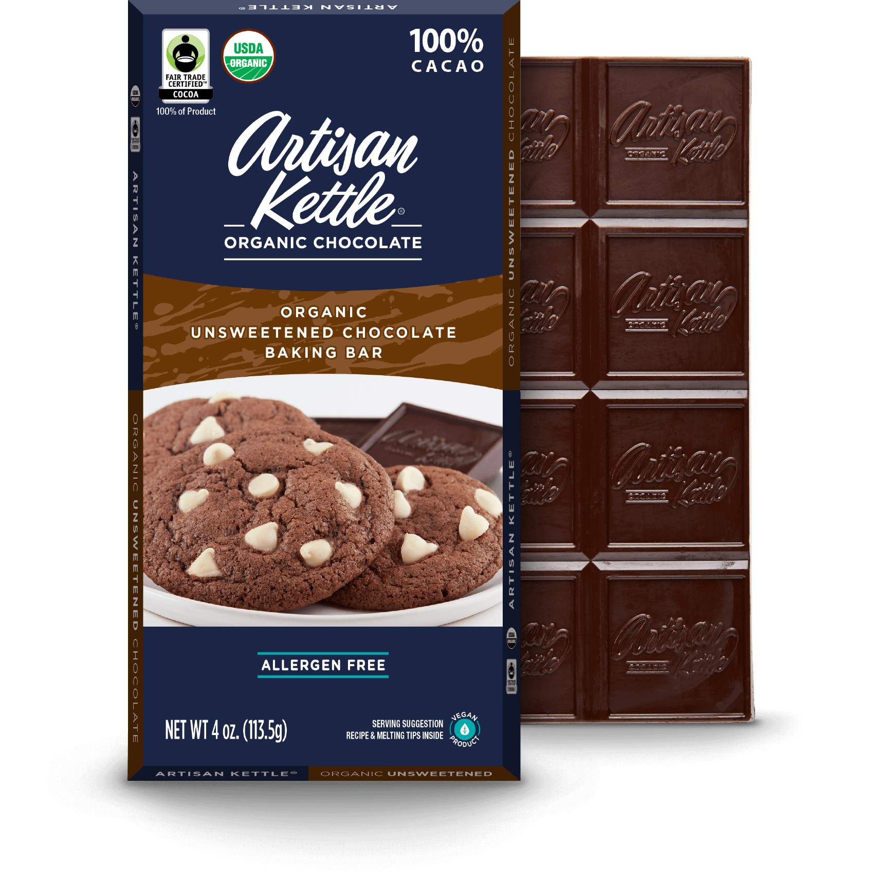 Organic Unsweetened Chocolate Baking Bar